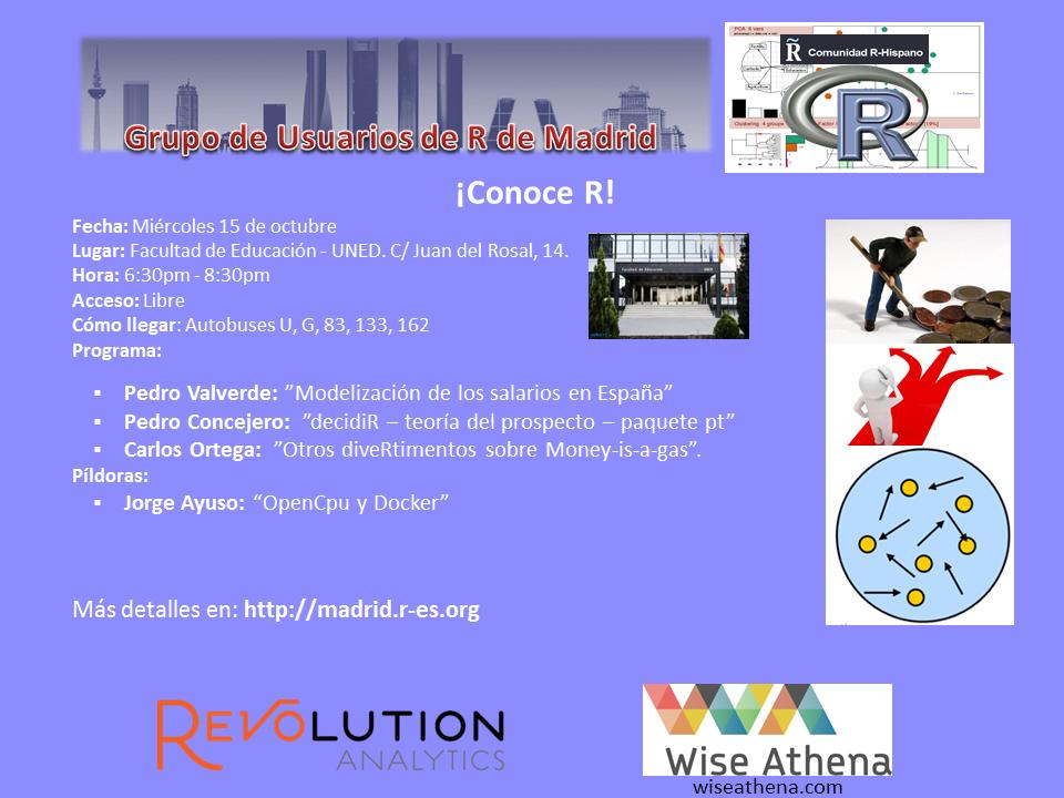 Reunion Grupo Usuarios de R de Madrid - 15-Octubre - V1