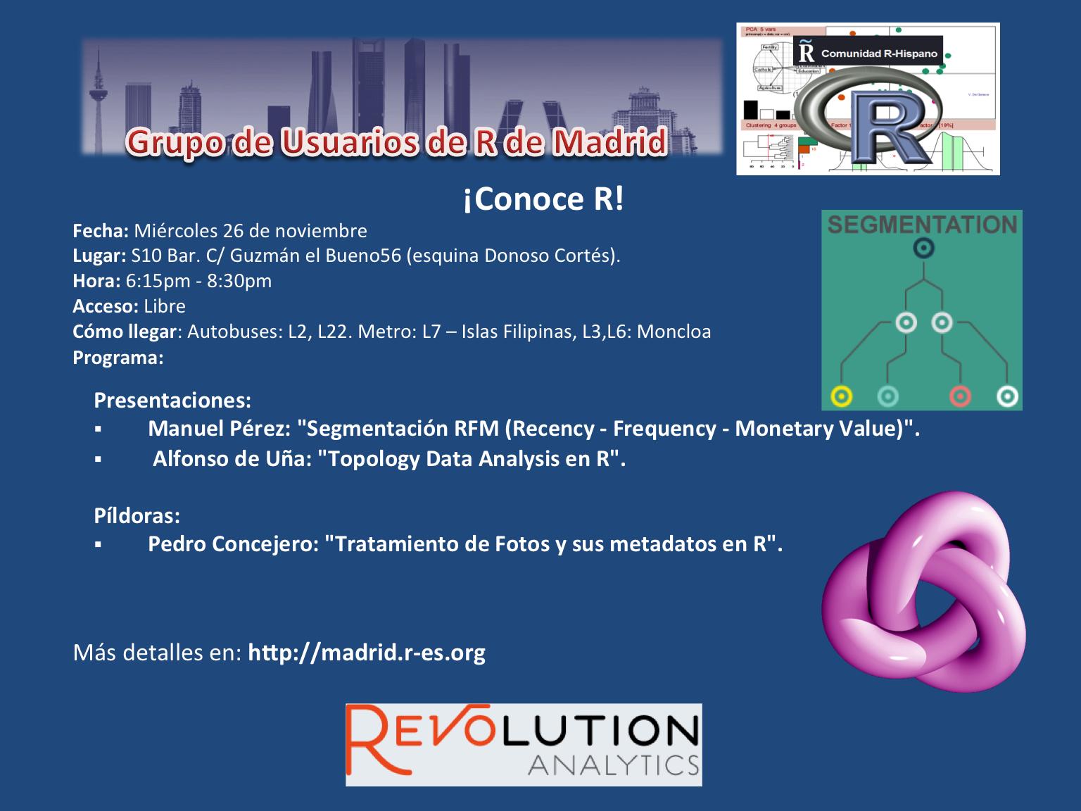 Reunion Grupo Usuarios de R de Madrid - 26-Noviembre - V1
