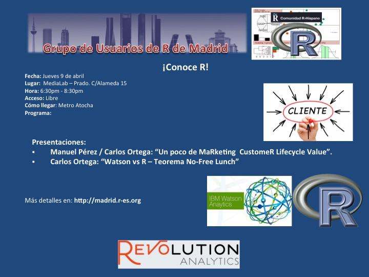 Reunion Grupo Usuarios de R de Madrid - 9-Abril - V1