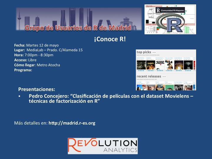 Reunion Grupo Usuarios de R de Madrid - 12-Mayo - V2