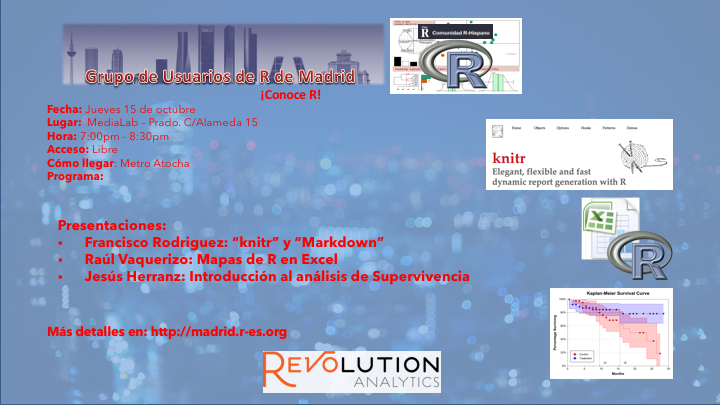 Reunion Grupo Usuarios de R de Madrid - 2015-Sep-15 - V1