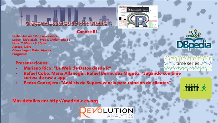 Reunion Grupo Usuarios de R de Madrid - 2015-Nov-12 - V1