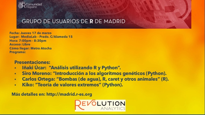 Reunion Grupo Usuarios de R de Madrid - 2016-Mar-17 - V1